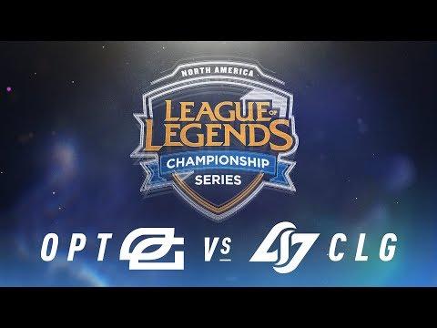 OPT Vs CLG Week 4 Day 1 NA LCS Spring Split OpTic Gaming Vs Counter Logic Gaming 2018