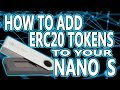 How To Add ERC20 Tokens To Your Ledger Nano S