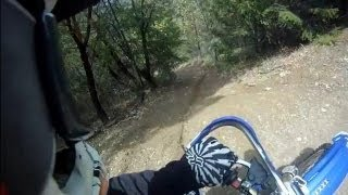 10. Gnarly pipe test YZ250 climbing technical hill Johns Peak.