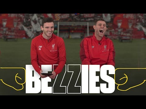 Video: BEZZIES with Milner and Robertson | 'I had to phone my Dad for one of the answers'