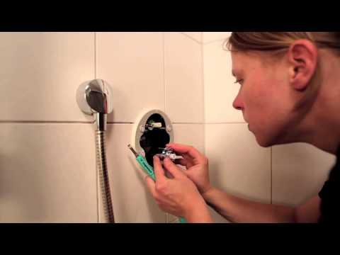 Hansgrohe Technik: Installation eines ShowerSelect-Unterputz-Thermostats