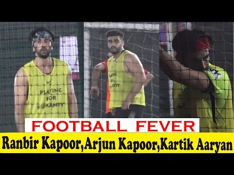 Ranbir Kapoor, Arjun Kapoor & Other Celebs  Playing Football At Juhu Sport Ground