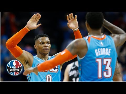 Video: Russell Westbrook, Paul George lead Thunder to win vs. Spurs | NBA Highlights