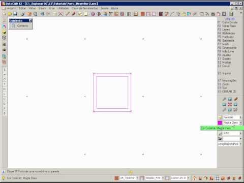 DataCAD 12 - A Interface do Programa