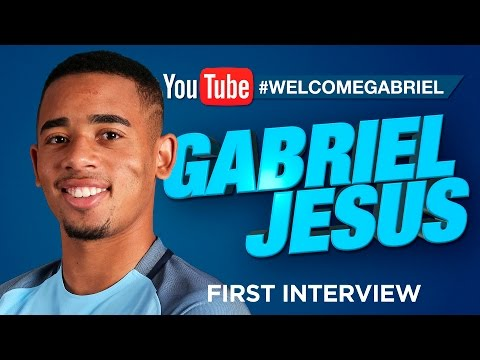GABRIEL JESUS SIGNS FOR MAN CITY! | EXCLUSIVE FIRST INTERVIEW