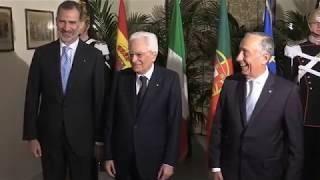 Llegada al encuentro de COTEC Europa 2019 de S.M. el Rey y S.M. el Rey Don Juan Carlos