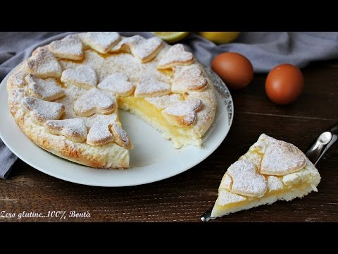 crostata al limone con frolla agli albumi - ricetta senza glutine