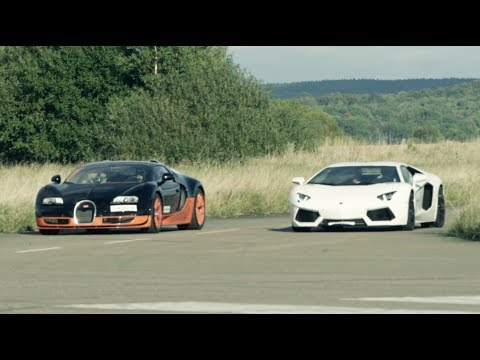 lamborghini aventador vs bugatti veyron vitesse sfida in 4k