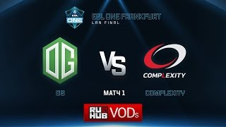 OG vs coL, game 1
