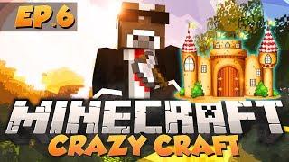 """Minecraft """"WIZARD SKY CASTLE"""" - CRAZY CRAFT Modded Survival - Ep. 6 ( Minecraft Crazy Craft Part 6 )"""