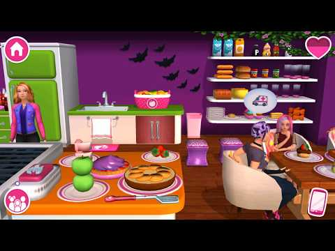 Barbie Dreamhouse Adventures - Pool Party, Daisy & Nikki DJ Concert - Unlock Halloween Pumpkins