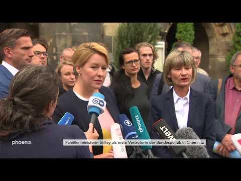 Chemnitz: Franziska Giffey und Barbara Ludwig (beide SP ...