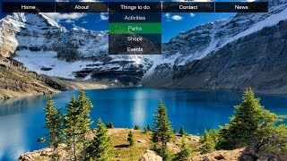 How to Create Transparent Drop Down Navigation Menu with CSS and HTML