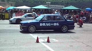 Sliven Drag 2013g. (Sunday) - Class Street RWD - BMW E30 Turbo (Pantalona) Vs Porsche GT2 - FINAL
