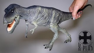 "This Albertosaurus made by X-Plus is very large, detailed and realistic! It's a great figure for any dinosaur fan to own!X-Plus Styracosaurus https://www.youtube.com/watch?v=oX-827T-PwQMy Facebook https://www.facebook.com/xINVISIGOTHxReview of 20"" (20 inch or 51 cm) museum quality replica Albertosaurus theropod dinosaurs, large scale non poseable action figure for adult collectors, or fun toy for kids! Lots of detail, yet very durable, comes with a plastic and metal stand for display."
