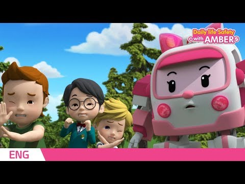 🚨 Daily life Safety with AMBER   EP 07  Robocar POLI   Kids animation