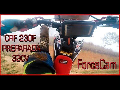 HONDA CRF 230F PREPARADA COM FORCECAM E M2 RACING - TESTE NO MORRO ANTES E DEPOIS - GOPRO 5
