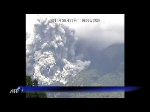 Eruption of Mount Ontake volcano in Japan.
