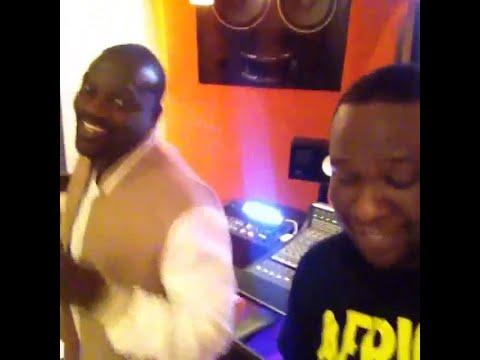 "Akon In the Studio Recordin ""Feeling A Nigga"" Ft. D'banj"