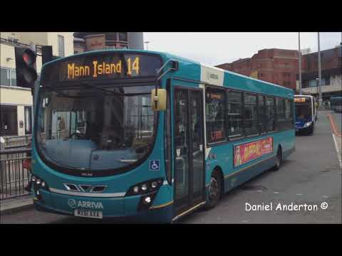 (HD) Buses In Liverpool - Queen Square 13/11/2013