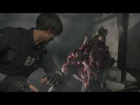 Resident Evil 2 - Boss William Birkin G1 sans dégâts - Leon Hardcore de Resident Evil 2