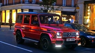 The Loudest Mercedes G55 AMG Wagon I have ever heard. Equipped with a Brabus exhaust system and a chrome red wrap, this car definetely turns heads, but does it look good?