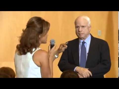 mccain - More at: http://b4in.info/gGkN At a Town Hall meeting a Syrian woman who lost a member of her family at the hands of the U.S. backed Syrian rebels that would...