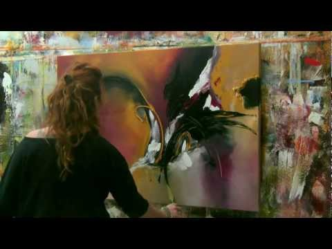 "Abstract acrylic painting Demo – Abstrakte Malerei ""Wish I could fly"" by Zacher-Finet"