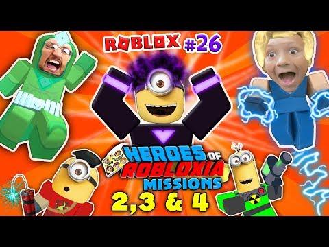 DABBING MINION & ROBLOX Heroes of Robloxia MISSIONS 2, 3 & 4! FGTEEV #28: 2-Vids-in-1 (DARK MATTER) (видео)