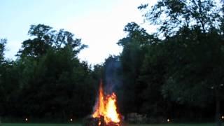 Time lapse bonfire