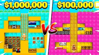 BOY vs GIRL Friend $1,000,000 SECRET MINECRAFT BASE BUILD BATTLE!