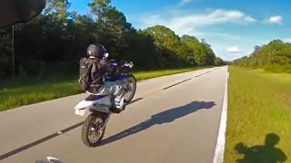 8. 2014 Yamaha WR250R break in done right. Burnout, FMF exhaust, lightning, cops, trail ride