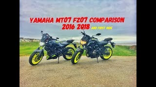 10. Yamaha MT07 FZ07 2016 2018 Comparison And First Ride