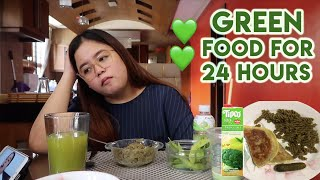 Video I ONLY ATE GREEN FOOD FOR 24HRS CHALLENGE!! (NO MEAT FOR 24HRS) | MERIENDA TIME MP3, 3GP, MP4, WEBM, AVI, FLV April 2019