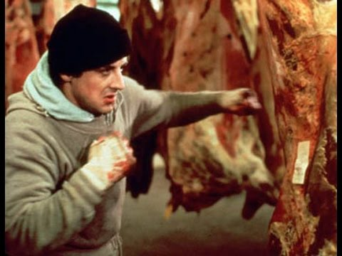 Rocky (1976): Rocky Punches Meat