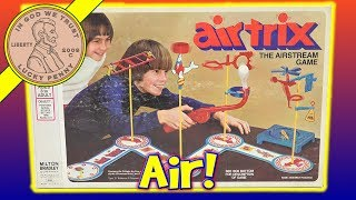 Air Trix - The Airstream Milton Bradley Game - 1976 -  #4650 This game involves a lot of skill.  You can play this with 4 players or as a solo game, but even if you have a group you can all challenge each other to see who could do the stunt in the shortest time.  You can find these still on eBay, but many are missing parts and or have broken pieces.  I was lucky to find this complete and it just needed a fix to the air gun fins that tend to break off.  I hope you enjoy this vintage game, it was a lot of fun showing on video.Lucky Penny ThoughtsLPS-DaveLater!▶ About UsLucky Penny Shop is a family-friendly YouTube channel that features videos of kids food maker sets, slime, putty, new & vintage toys, games and candy & food from around the world! There are over 5500 videos!▶ Product InfoAir Trix - The Airstream Milton Bradley Game - 1978Visit us online ▶ http://www.luckypennyshop.com/shop/▶ Watch More VideosMilton Bradley Classic Board Games - Family Board Games - Vintage Game Reviews https://www.youtube.com/watch?v=6PXykJp6ow4&index=1&list=PL0A4AEEEB302E8DC2Giant Jenga Worlds Largest Licensed Wood JENGA TOWER! Comparing 3 Jenga Towershttps://www.youtube.com/watch?v=odcxOiEgUFMDad & Daughter Playing Get a Grip - The No Thumbs Challenge Game - How To Play!https://www.youtube.com/watch?v=ifsU8v-VjSADaddy & Daughter Play Fish Food - Feed The Fish To Get Rid Of Your Worms! https://www.youtube.com/watch?v=SLibVSRIcv8▶ Follow UsTWITTER  http://twitter.com/luckypennyshop FACEBOOK  http://www.facebook.com/LuckyPennyShopINSTAGRAM  http://instagram.com/LuckyPennyShopGOOGLE+  https://plus.google.com/+luckypennyshopPINTEREST  http://www.pinterest.com/luckypennyshop/LPS WEBSITE  http://www.luckypennyshop.com/Sound Effects by http://audiomicro.com/sound-effectsThis video is not intended as an endorsement of the product shown. We were not paid or provided other non-monetary advantages or incentives to show this product.