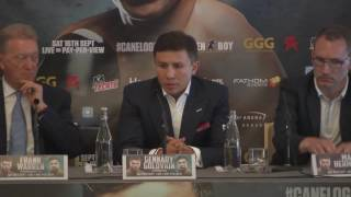 Canelo Alvarez and Gennady Golovkin were in London today to promote their September 16th clash LIVE on Pay Per View