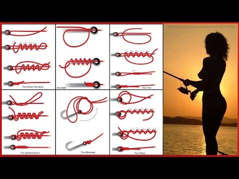 Вязание рыболовного крючка узлы 73