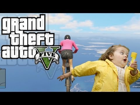 GTA 5 Online Funny Moments: Mountain Death Race! (Downhill Bike Race)