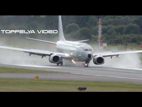 Красивый реверс двигателя самолёта