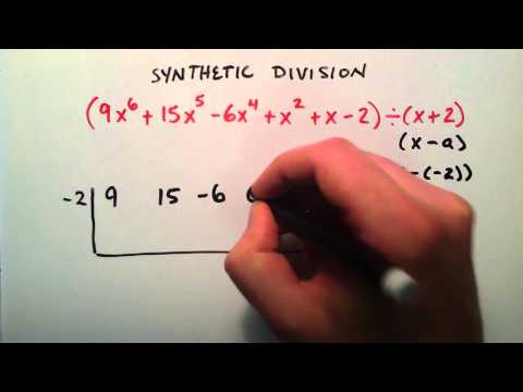 How to do Synthetic Division Example 2