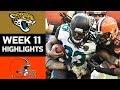 Jaguars vs. Browns | NFL Week 11 Game Highlights