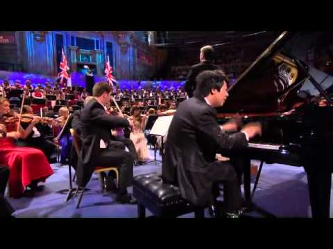 lang - Lang Lang performs Liszt Piano Concerto No. 1 in E flat major during Last Night Proms 2011 inside the Royal Albert Hall. Edward Gardner conducts the BBC Symp...