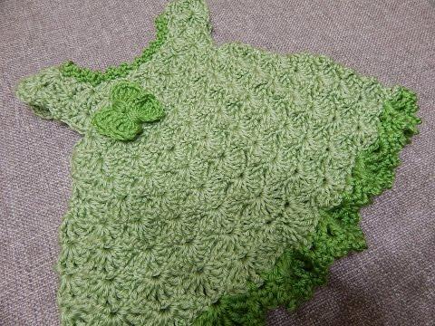 Vestido Pistache para Bebe Crochet