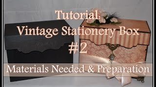Part 2 of 3In this tutorial, I explain the necessary materials for the box and cutting directions. If needed, pause the video to make sure you have the right dimensions for each piece. Please feel free to let me know if you have any questions!You can see this box featured in Graphic 45: A Ladies Diary (My Collection):https://youtu.be/7fEK6cNLx9kFor tips on staining flowers, check out this video:https://youtu.be/yhA07hCrNj8Thank you for watching and keep a look out for part 3 coming soon!Don't forget to subscribe for more fun stuff!