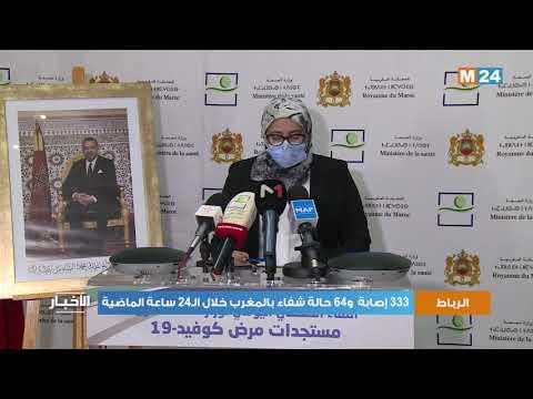 333 إصابة و64 حالة شفاء بالمغرب خلال الـ24 ساعة الماضية