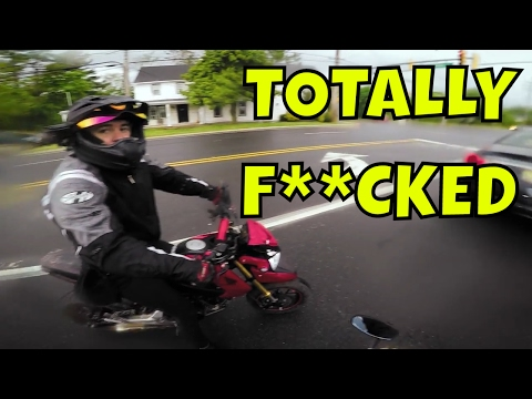 Motorcycle Riders Get Stuck In A Freak Storm (Grom Squad)