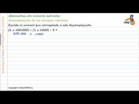 Vídeos Educativos.,Vídeos:Descomponer números naturales 4