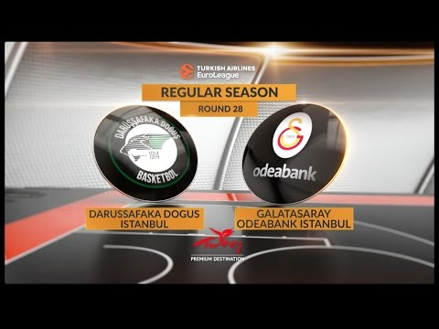 EuroLeague Highlights RS Round 28: Darussafaka Dogus Istanbul 73-67 Galatasaray