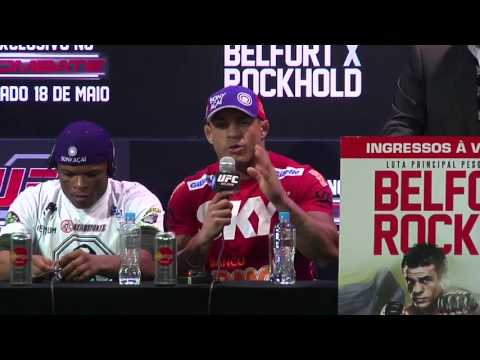 post - Watch the UFC on FX 8 post-fight press conference, featuring Vitor Belfort, Luke Rockhold, Jacare Souza, Gleison Tibau and more.